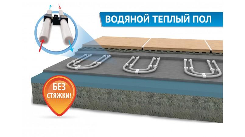 водяной теплый пол без стяжки